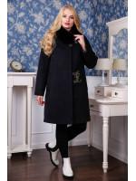 Зимнее пальто «Мисса» черного цвета