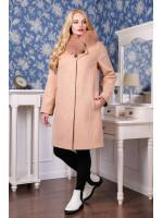 Зимнее пальто «Мисса» бежевого цвета