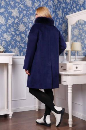 Зимове пальто «Місса» темно-синього кольору