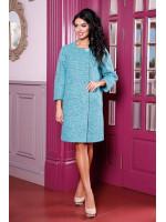 Жіноче пальто «Абель» бірюзового кольору