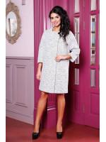 Жіноче пальто «Абель» білого кольору