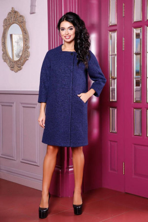 Жіноче пальто «Абель» темно-синього кольору