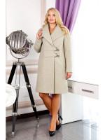 Женское пальто «Норд» оливкового цвета