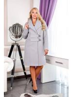Женское пальто «Норд» светло-серого цвета