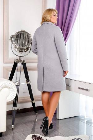 Жіноче пальто «Норд» світло-сірого кольору