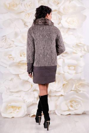 Зимове пальто «Кантон» бежевого кольору