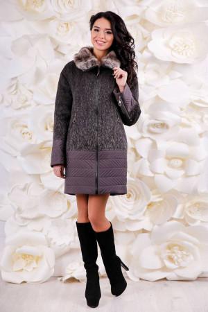 Зимнее пальто «Кантон» коричневого цвета