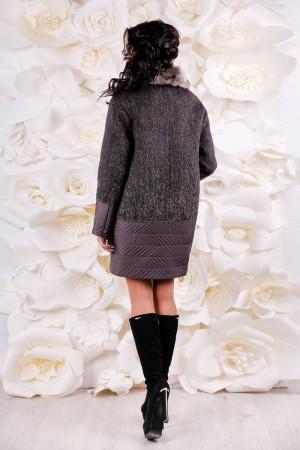 Зимове пальто «Кантон» коричневого кольору