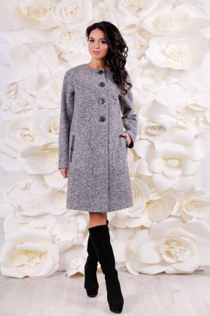 Жіноче пальто «Аріба» сірого кольору