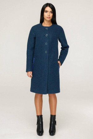 Женское пальто «Ариба» синего цвета