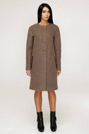 Жіноче пальто «Аріба» жовтувато-коричневого кольору