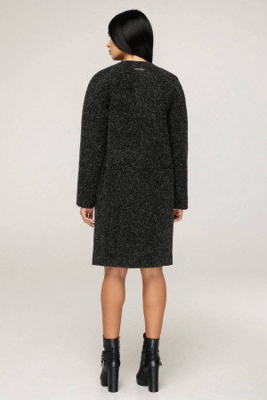 Жіноче пальто «Аріба» чорного кольору