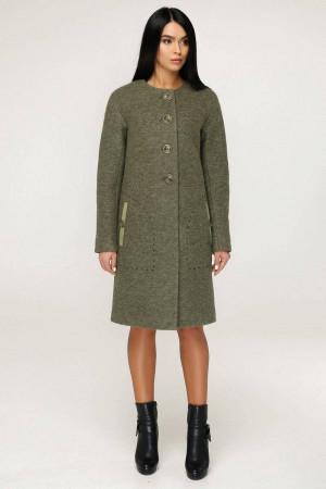 Жіноче пальто «Аріба» оливкового кольору