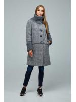 Жіноче пальто «Костанц» сірого кольору
