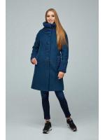 Жіноче пальто «Костанц» синього кольору