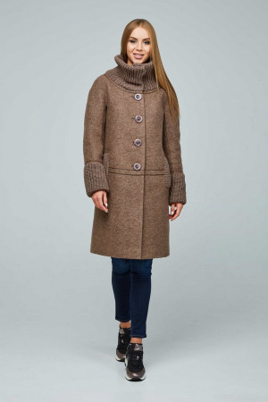 Женское пальто «Костанц» коричневого цвета