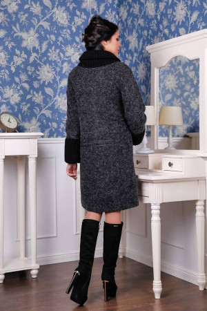 Жіноче пальто «Костанц» чорного кольору