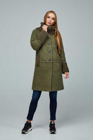 Жіноче пальто «Костанц» зеленого кольору