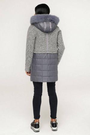 Зимове пальто «Полетто» сірого кольору