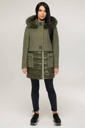 Зимнее пальто «Полетто» оливкового цвета