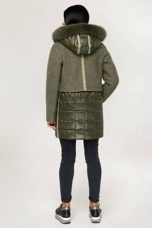 Зимове пальто «Полетто» оливкового кольору
