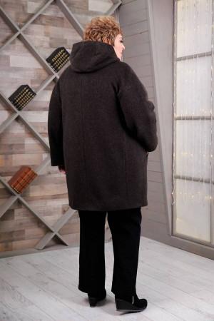 Жіноче пальто «Вільха» коричневого кольору