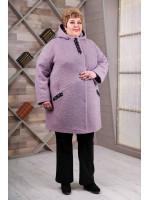 Жіноче пальто «Вільха» бузкового кольору
