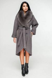 Зимове пальто «Грант» сіро-фіолетового кольору