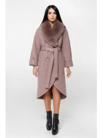 Зимове пальто «Грант» туманно-рожевого кольору