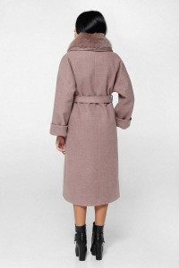 Зимнее пальто «Грант» туманно-розового цвета