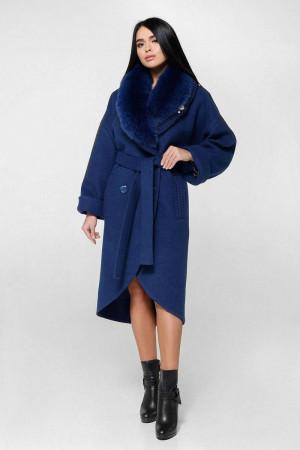 Зимнее пальто «Грант» синего цвета