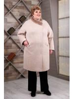 Зимнее пальто «Рита» бежевого цвета