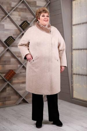 Зимове пальто «Рита» бежевого кольору