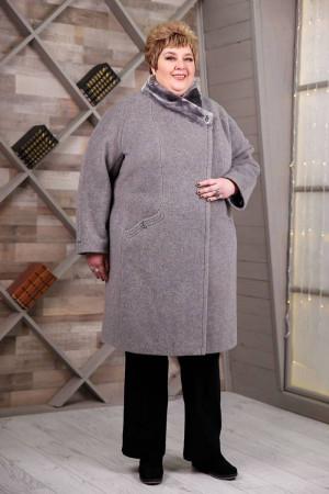 Зимнее пальто «Рита» серого цвета