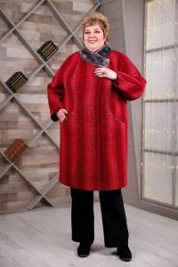 Зимове пальто «Рита» червоного кольору