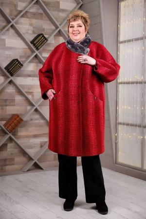 Зимнее пальто «Рита» красного цвета