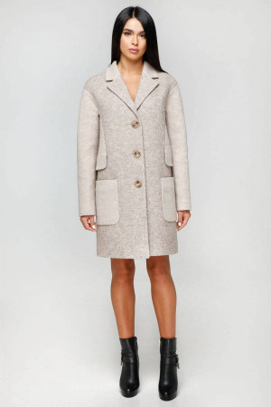 Жіноче пальто «Бриг» бежевого кольору