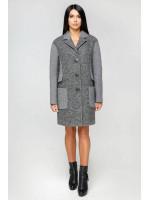 Женское пальто «Бриг» темно-серого цвета