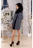 Жіноче пальто «Тіанна» синього кольору 44 размер
