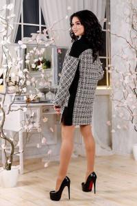 Женское пальто «Тианна» бежевого цвета в клетку
