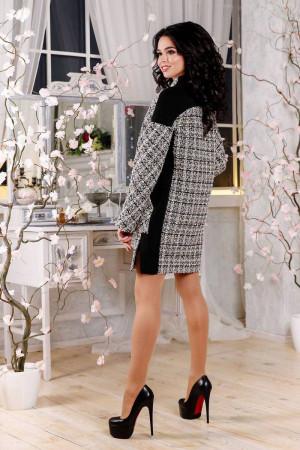 Жіноче пальто «Тіанна» бежевого кольору в клітинку