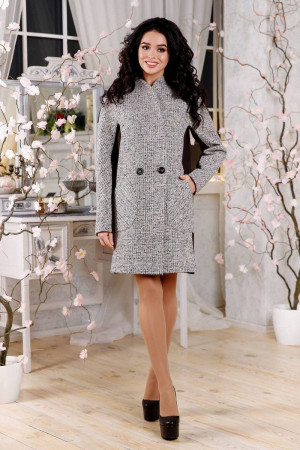 Жіноче пальто «Тіанна» бежевого кольору 44 розмір