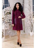 Жіноче пальто «Молін» фіолетового кольору