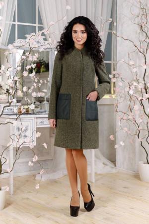 Женское пальто «Молин» цвета хаки