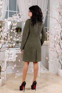 Жіноче пальто «Молін» кольору хакі