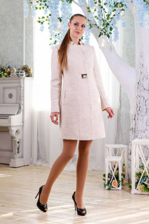 Женское пальто «Трито» бежевого цвета 46 размер