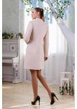 Жіноче пальто «Трито» бежевого кольору 46 розмір
