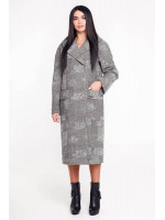 Жіноче пальто «Гарденія» світло-сірого кольору