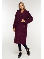 Жіноче пальто «Гарденія» фіолетового кольору