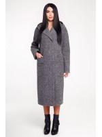 Жіноче пальто «Гарденія» сірого кольору